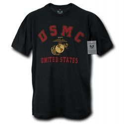 (Large, Black) - Rapiddominance 30 Single US Marine Classic Tee, Black, Large