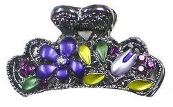 (Purple) - Small Flower Jaw Clip GL86440-TH1purple