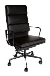 Replica Eames High Back Soft Pad Executive Desk / Office Chair   All Black