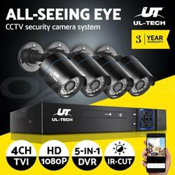 UL-tech CCTV Security System Home Camera DVR 1080P Outdoor Day Night Long Range