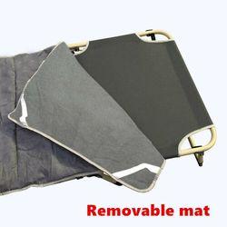 Portable Foldable Bedding Recliner Mattress Camping Mat Single Folding Bed ACB - folding bed + Mat