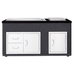 DISPLAY Beefeater Artisan Outdoor Kitchen with Signature ProLine 6 burner built-in barbecue with Lid
