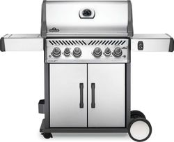 NAPOLEON Rogue Stainless Steel 4 burner trolley BBQ with side burner