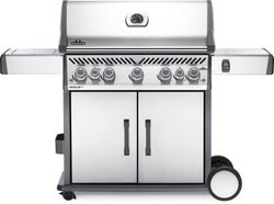 NAPOLEON Rogue Stainless Steel 5 burner trolley BBQ with side burner