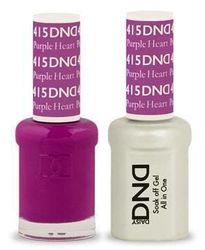 DND 415 Purple Heart Duo Set Soak off Gel & Matching Nail Polish