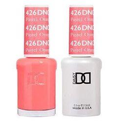 DND 426 Pastel Orange Duo Set Soak off Gel & Matching Nail Polish