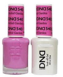 DND 540 Orchid Garden Duo Set Soak off Gel & Matching Nail Polish