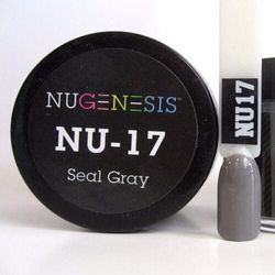 Nugenesis Dipping Powder Nail System Color NU-017 - Seal Grey - 43g