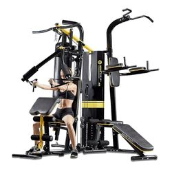 Multi Station Home Gym Exercise Boxing Weight Bench Press Punching Bag M6