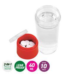 1st Care® 3PK 2-In-1 Pills & Water Medicine Bottle Leak Proof Refillable