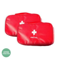 1st Care® 2PCE First Aid Storage Bag Compact Portable Home Travel 23 x 13cm