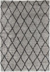 Siesta Grey Diamond Shag Rug