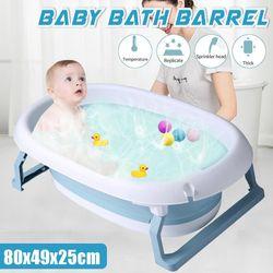 Baby Folding Bathtub Bath Barrel Soaking SPA Tub Large Children Swimming Pool