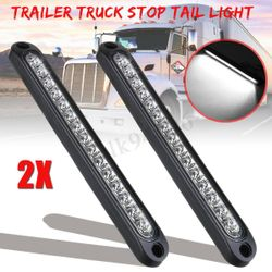 2X LED Trailer Truck Caravan UTE Stop Brake Tail Reverse Light Ultra-Slim
