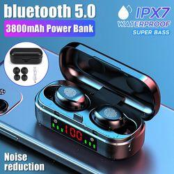 bluetooth 5.0 TWS Wireless Earphone/Headset/Earbud/Headphone Waterpoor IPX7 Sport Noise Reduction Stereo Sound