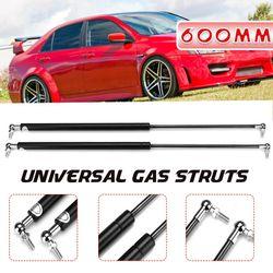 2PCS 200N Stainless Steel Universal 200N Gas Struts Spring For Multi Purpose Boot Bonnet Car Conversion CaravansRebuilt Projects Doors Windows,(600 mm)