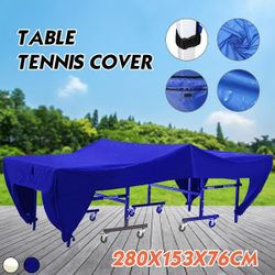 Table Tennis Cover Ping Pong Table Protective Cover Storage Waterproof Dustproof Indoor Outdoor (blue)