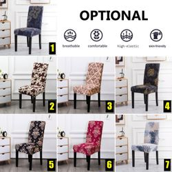 Stretch Dining Room Chair Covers Party Wedding Banquet Hotel Seat Slipcover(Style 1)