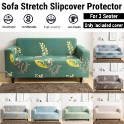 Three Seater Stretch Sofa Covers Elastic Slipcover without Pillowcase (C)