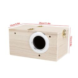 Budgie Nest Box Breeding Boxes Aviary Bird Nesting with Stick for Canary Finch