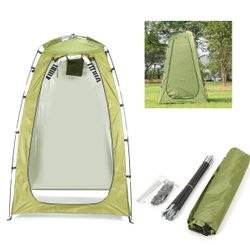 Portable Outdoor Shower Bath Tents Changing Fitting Room Tent Shelter Camping Beach Toilet Tents 120*120*180cm(lightgreen,1.8m by 1.2m by 1.2m)