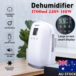 AU 1.7L New Mini Home Dehumidifier Air Dryer Bedroom Office Basement LED Screen