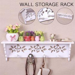 45x15x10cm Wall Storage Rack Photo Shelf Floating Display Decor Home Wood Wall Mounted(Type B)