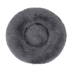 Large Round Calming Plush Cat Dog Bed Large Comfy Puppy Fluffy Bed Mattress 70x70x21cm
