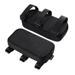 Healifty 2pcs Chair Armrest Pads Memory Foam Elbow Pillows Soft Comfortable Forearm Pressure Relief Pads Universal Chair Arm Covers for Office School (Black)