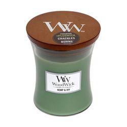 Woodwick Medium Hemp & Ivy Scented Candle