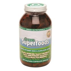 Green Superfoods Vegetable 600mg Capsules 250