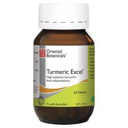 Oriental Botanicals High Potency Turmeric Excel 60 Tablets