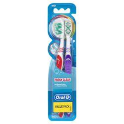 Oral B Fresh Clean Medium Toothbrush Value Pack