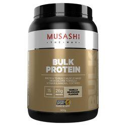 Musashi Bulk Protein Vanilla Milkshake Flavour 900g