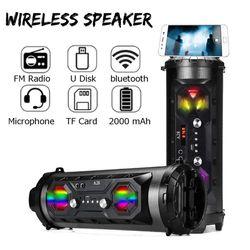 25W 40CM LED bluetooth Speaker Wireless FM Stereo Loud Super Bass Subwoofer AUX USB