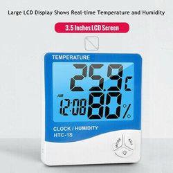 LCD Digital Thermometer Hygrometer ℃/℉ Temperature Humidity Gauge Alarm Clock AU