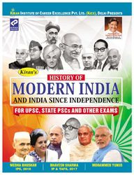 Kiran History of Modern India and India Since Independence for UPSC State PSCs and Other Exams by IPS Medha Bhushan 2018 IP Tafs Bhavesh Sharma 2017 Mohammed Yunus -English(2632)