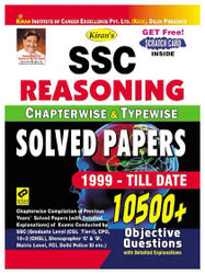 Kiran SSC Reasoning Chapterwise and Typewise Solved Papers 1999 - Till Date English