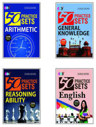 50 Practice Sets (ARITHMETIC GENERAL KNOWLEDGE REASONING ABILITY English) A Set of 4 Books (5000 Important Questions)