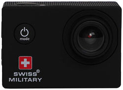 Swiss Military CAM1 Wanderer Sports Action Camera (Black 12 MP) with Waterproof Case