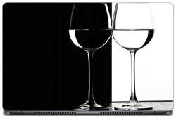 Gallery 83 - Cool Black White Wine Glass Laptop Decal laptop skin sticker 15 6 inch (15 x 10) Inch g83 skin 0614new