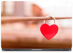 Gallery 83 - Heart Key Chain in Rope Laptop Decal laptop skin sticker 15 6 inch (15 x 10) Inch g83 skin 0111new