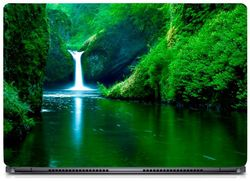 Gallery 83 - Nature Water Fall Laptop Decal laptop skin sticker 15 6 inch (15 x 10) Inch g83 skin 0294new