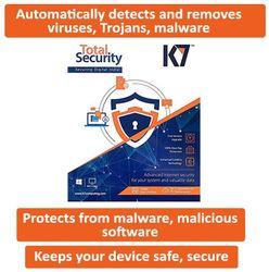 K7 Total Security 2017 New Slim Pack 1Pc 1 Year 1 Instalation CD 1 Serial Keys 1Year Validity)