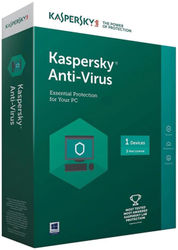 Kaspersky Antivirus Software 2017 1 Pc 3Year (1cd 1095 Days Valid Serial Key This serial key also use for renewal purpose Offer Plastic Cd Cover For Safe the cd From Scartch)