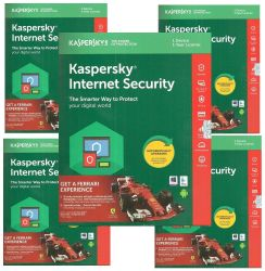 Kaspersky Internet Security Software 2018 New Slim Pack 5pc 1year