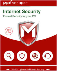 Max Secure Internet Security Version 6 - 1 PC 1 Year (Activation Key Card) registration code