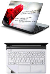 Namo Arts Combo of Laptop Skins 15 6 inch Stickers with Laptop TrackPad Skin for All Laptop - Notebook PTMHQ10057 Heart Quote