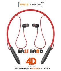 PSYTECH 4D Bass Band In-Ear Bluetooth Headset ( Red )