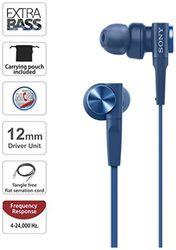 Sony XB55AP In-Ear Wired Headphone ( Blue )